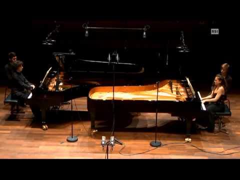 Karin Lechner Sergio Tiempo Poulenc Sonata for 2 pianos 12-6-2015 Lugano