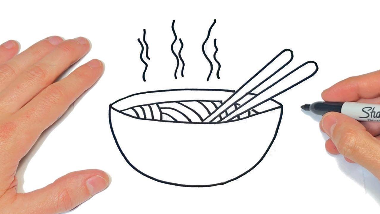Cómo Dibujar Una Sopa Paso A Paso Dibujos Fáciles