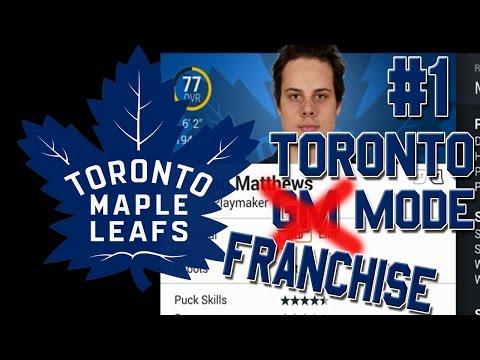 NHL 17 'Franchise Mode' #1 l NEW! GM mode Rebuild l Toronto Maple Leafs