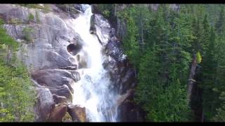 Shannon Falls Aerial Drone, Squamish, B.C., Canada by RSamson. Waterfalls, Dji Phantom Drone