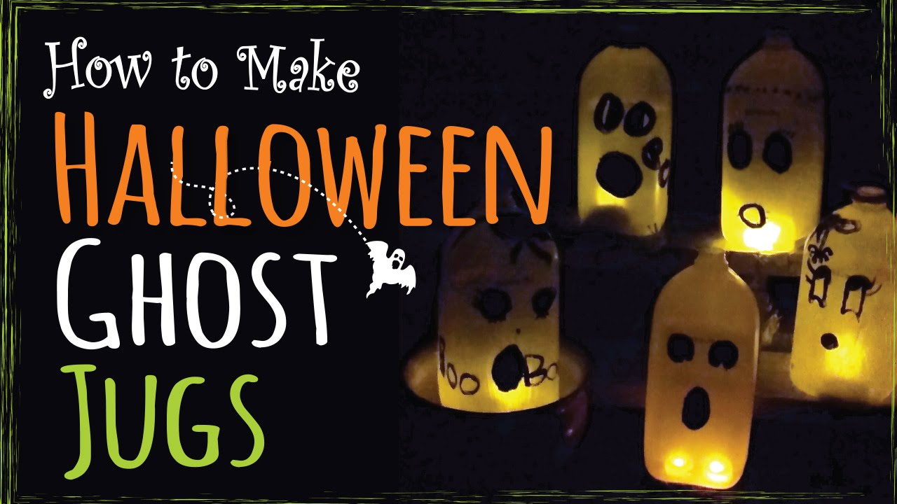 easy halloween kids craft how to make ghost jugs diy party decor - Milk Carton Halloween Ghosts