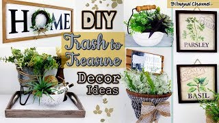 UPCYCLE THRIFT STORE MAKEOVER   TRASH TO TREASURE   DIY Home Decor