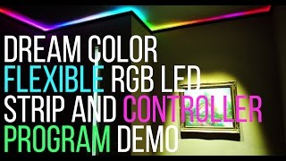 lED Light Strip Demo - Dream Color - 5050 - RGB - 150LED - 6803 Chip - 133 Programs