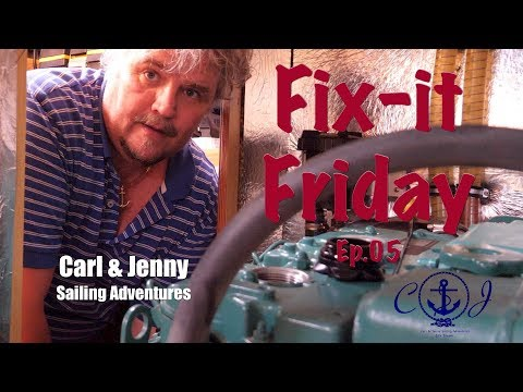 Fix it Friday - Oil change on a Volvo Perkins/ Volvo Penta D2-55 diesel engine - Carl and Jenny