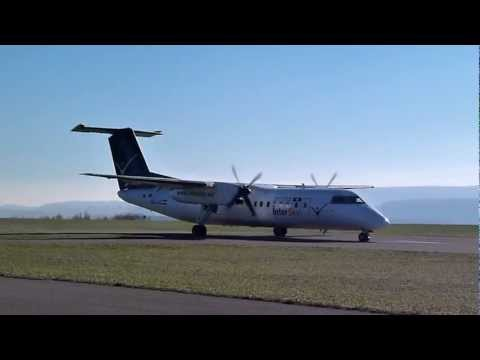 InterSky Dash8-300Q Take-Off At Aalen-Elchingen (EDPA)