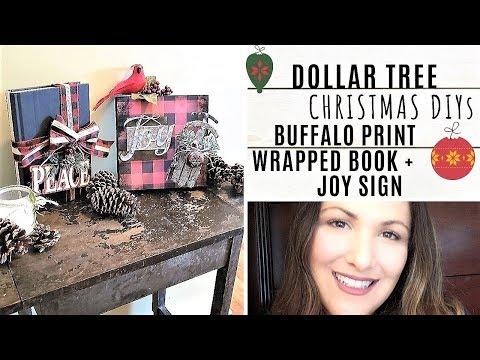Dollar Tree BUFFALO CHECK PRINT Christmas DIYs