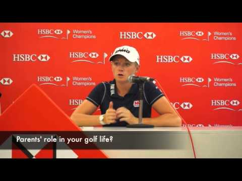 Stacy Lewis press interview at HSBC Women's Champions 2014, Singapore