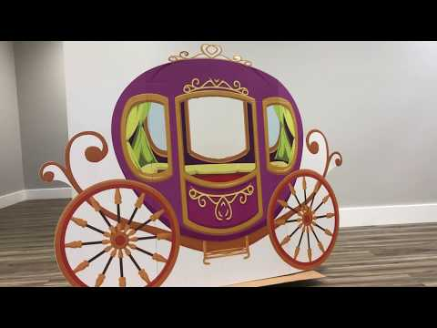 Carriage Cardboard Stand-In