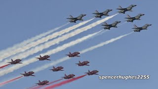 Red Arrows & Thunderbirds in formation! + Red Arrows Demo 2019 Huntington Beach Air Show