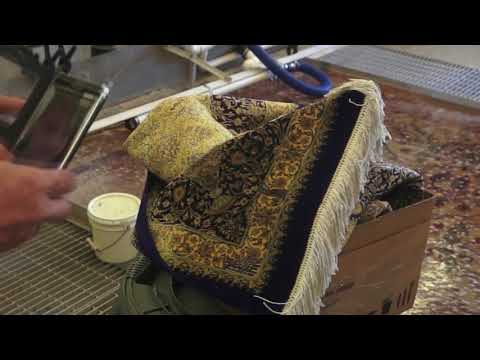 Cleaning A real $5000 Silk Persian Rug from dog urine stains