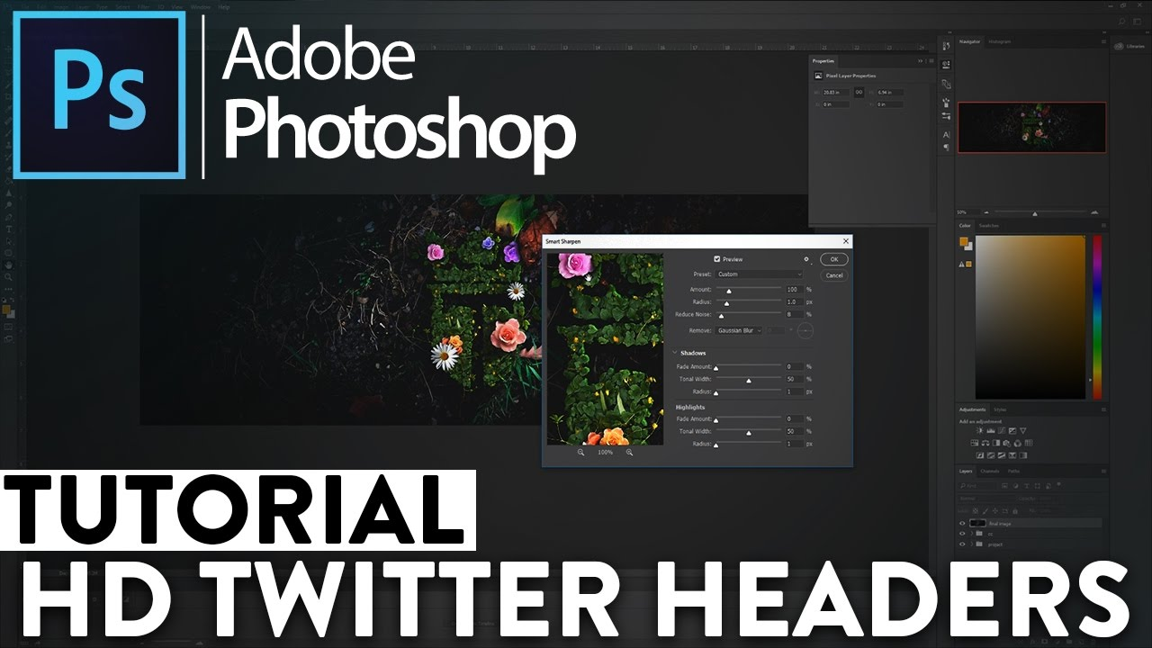 how to make your twitter header more hd photoshop tutorial youtube