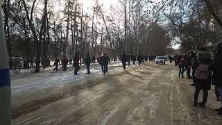 Разгон митинга, Навальный, Уфа, 28.01.2018,