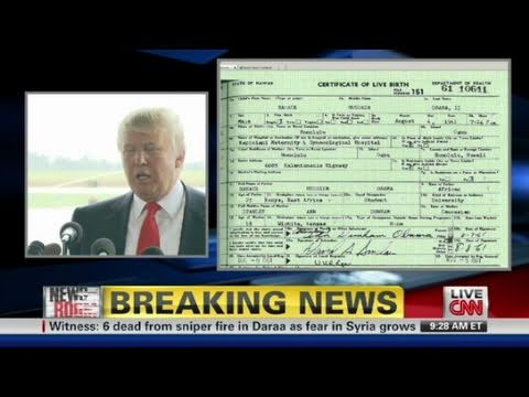 CNN: Donald Trump To Vet Obama's Birth Certificate