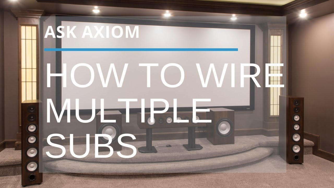 How To Wire Dual Subwoofers Or Even Multiple Subs Youtube Subwoofer Wiring Diagram