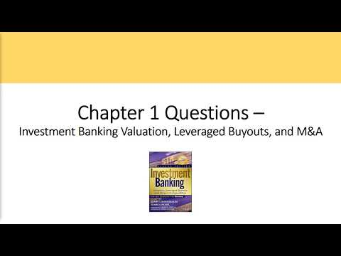 CH 1 Questions - Comparable Companies Analysis, Investment Banking Valuation Rosenbaum