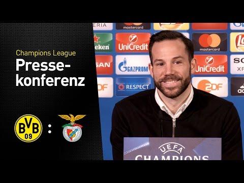 Pressekonferenz vor dem Rückspiel im Achtelfinale   BVB - SL Benfica