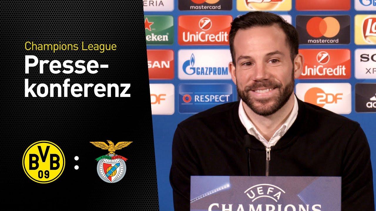 Pressekonferenz vor dem Rückspiel im Achtelfinale | BVB - SL Benfica