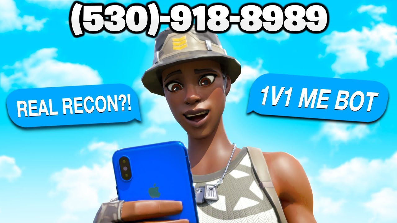 I put my Phone Number on the Most Rare Fortnite Skin ...