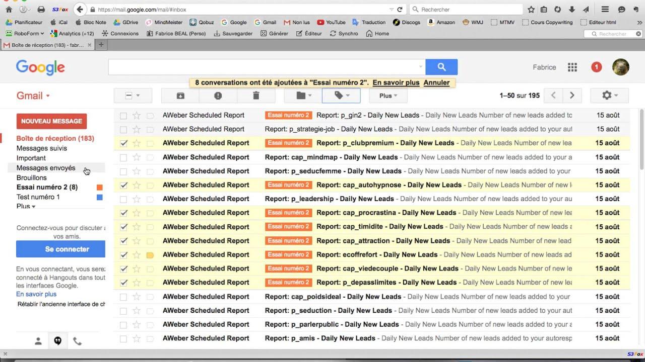 Formation Gmail (Vidéo 4) - Création de dossiers (libellés)