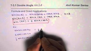 Double Angle Formula and Application of Sin2x
