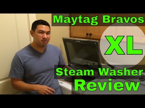 Maytag Bravos XL Steam Clothing Washer | Use + Review + Demonstration