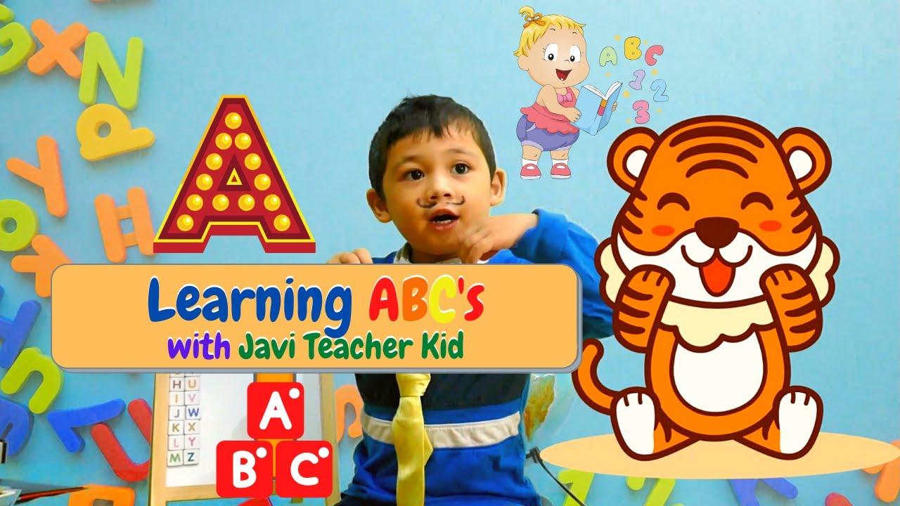 Learning ABC with Javi Teacher Kid