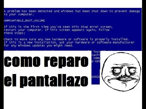 Reparar Pantallazo Azul Windows Unmountable_Boot_Volume Con Hiren Boot Screen Panic Chkdsk Error HDD