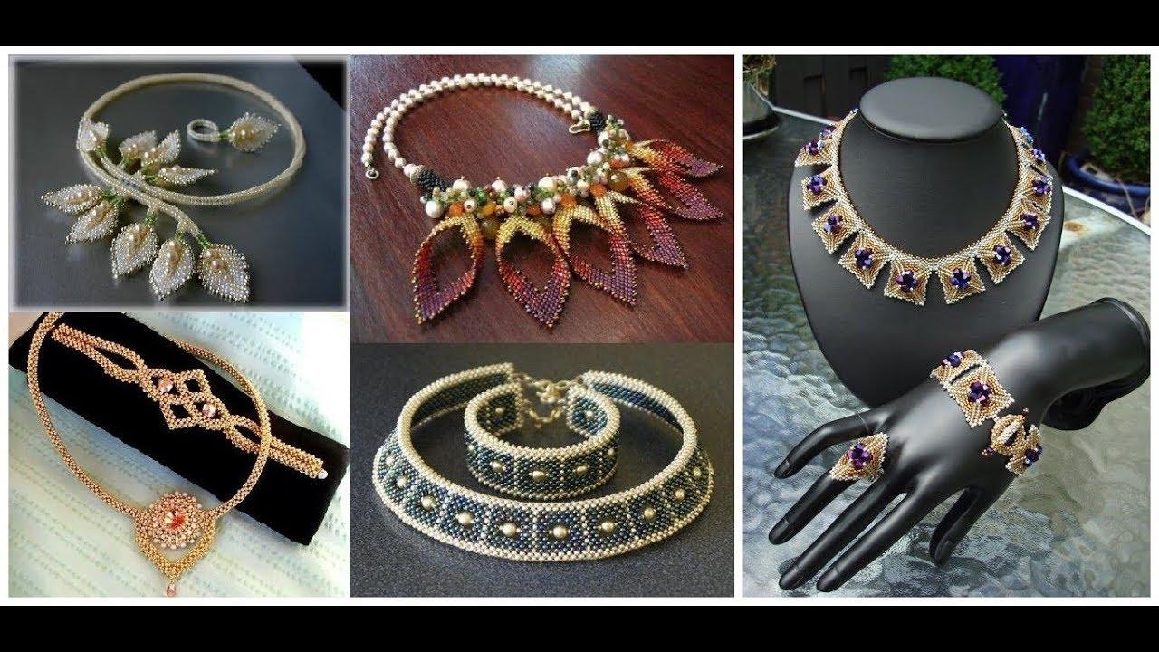 Beads Necklace Jewelry Design=Handmade Beaded Jewellery Ideas 2018-19
