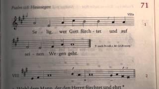 071 - Selig, wer Gott fürchtet (Psalm 128)