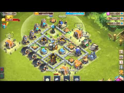 Castle Clash PC Best Towndesign For LV9 Town Hall