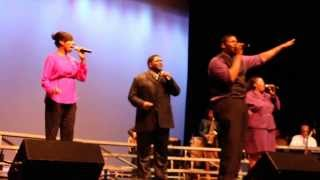 "Justin Aaron and The Royal Priesthood singing ""Here I am"""