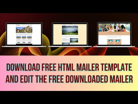 Download Free HTML Mailer Template & Edit Using Email Marketing Software