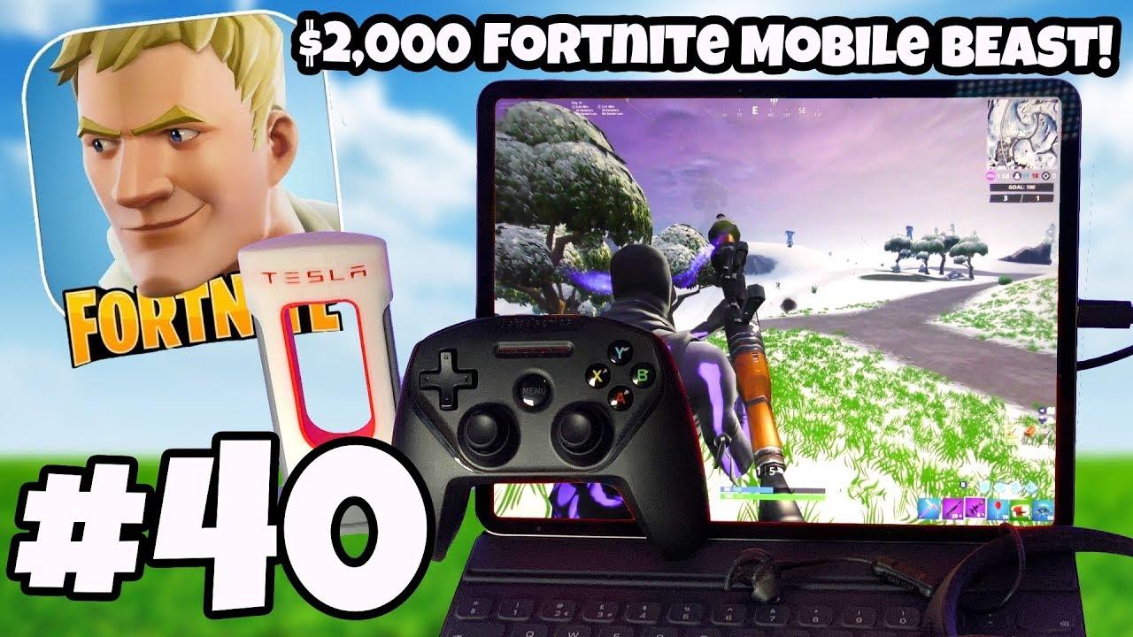 WORLDS BEST FORTNITE MOBILE SETUP! EPIC SETTINGS 60FPS 4K - Fortnite  IOS/Android Gameplay #40