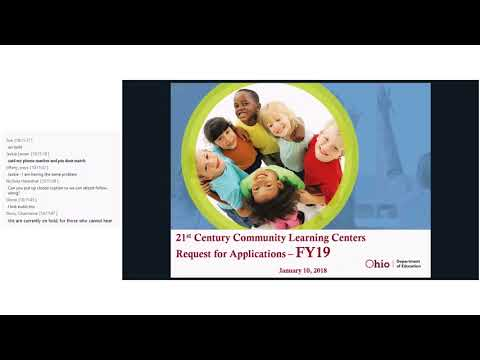 21st Century Community Learning Centers FY19 Request for Applications