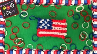Rainbow Loom Alpha Loom American Flag Charm