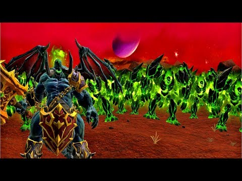Warcraft III Reforged: Burning Legion Demons VS Human Alliance - BF - Hellfire Peninsula (Part 1)
