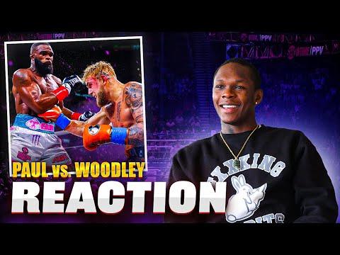 Israel Adesanya Reacts to Jake Paul vs Tyron Woodley & Talks Boxing