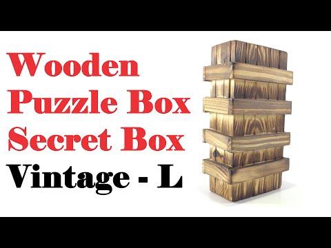 Wooden Puzzle Box : Secret Box : L