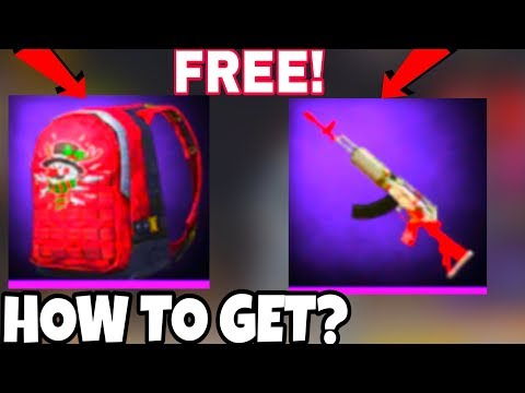 How To Get Free Gun Skins And Backpack Skins In Pubg Mobile - Get Free Backpack And Gun Skin