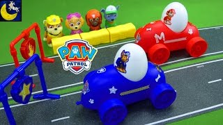 Paw Patrol Easter Toys Nickelodeon Egg Racer Marshall Chase Race Cars Pull Back Pups Toys Kids Video