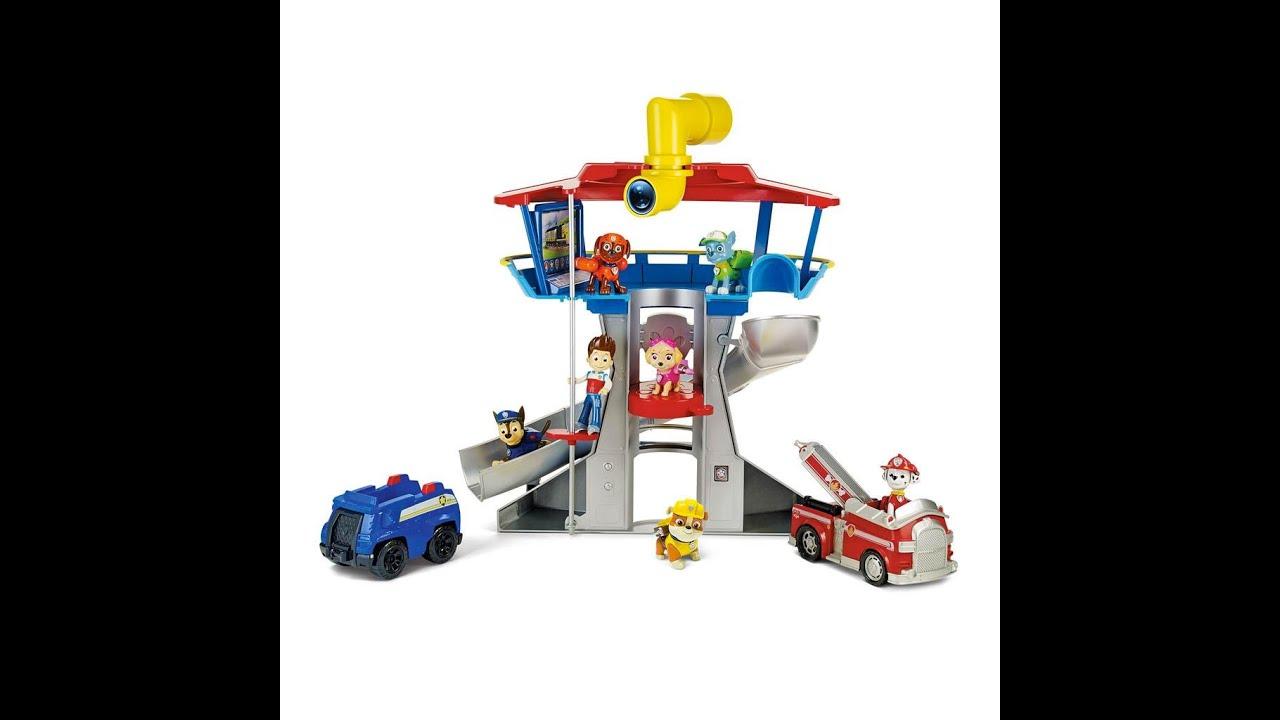 paw patrol la pat patrouille le poste de surveillance quartier g n ral jouet pour les enfants. Black Bedroom Furniture Sets. Home Design Ideas