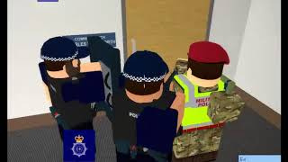 The day commissioner needed saving by Specialist Firearms Command!-Roblox