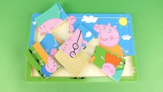 Peppa Pig & Family Wooden Puzzles for kids