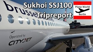 Trip Report | Brussels Airlines Sukhoi SuperJet SSJ100 | TXL - BRU