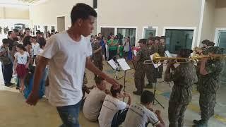Rio Pardo/RO, Banda do Exército. Escola F. de S. Gomes.  vídeo 380. Glória a Deus