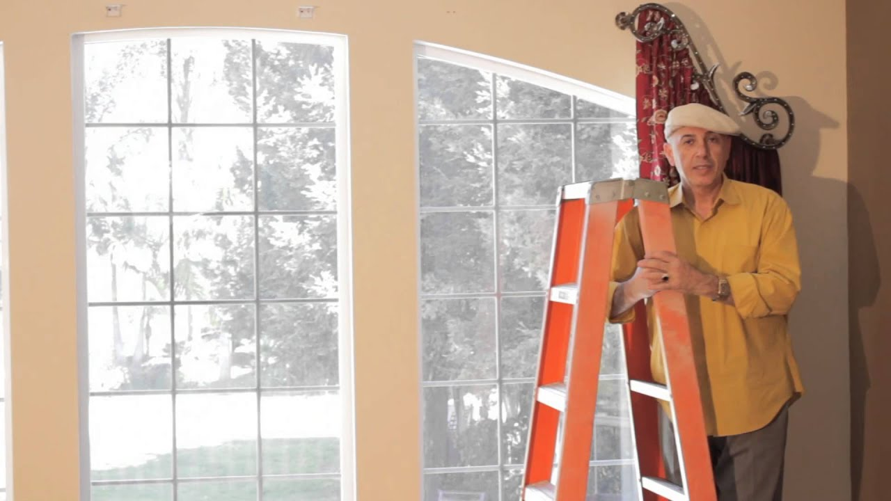 Video #44: Arched Window Treatments   How To Install Dazzling Arched Window  Treatments   YouTube