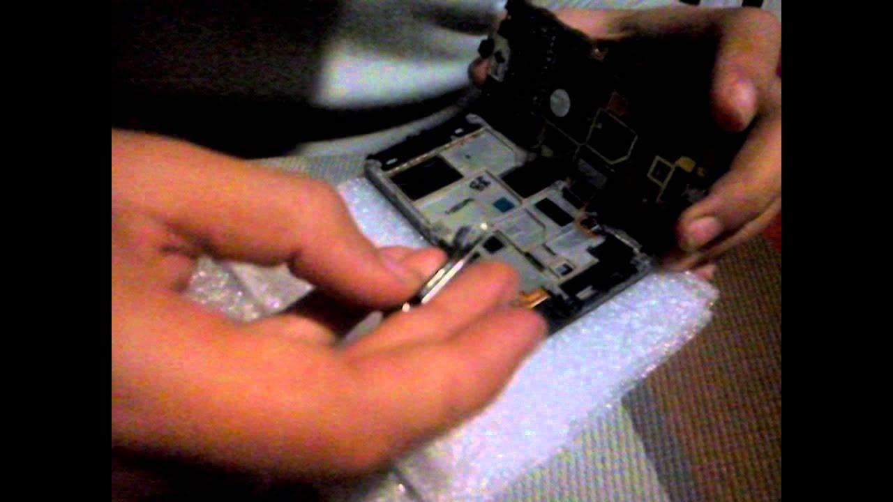 Ремонт Samsung S5230 - замена сенсорной панели в телефоне - YouTube