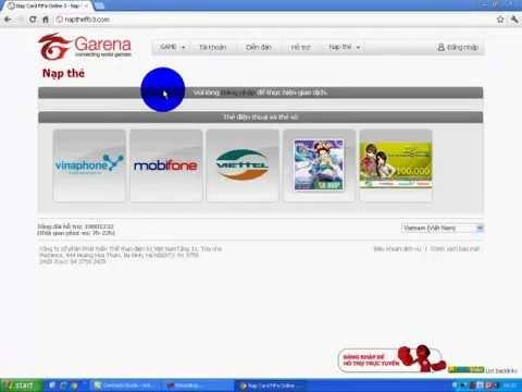 hướng dẫn nạp thẻ fifa online 3 , Nạp Sò Fifa online 3 , Đỏi Cash fifa  online 3