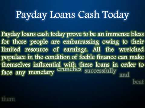 Payday Loans Cash Today: Obtain Much Needed Finances Without Any Difficulty - YouTube