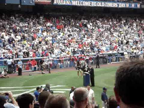 Old Timer's Day 2008 Yankee Stadium - Arlene Howar...